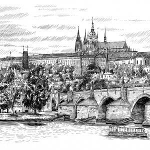 Praha, Karlův most, hradčany, Pražský hrad