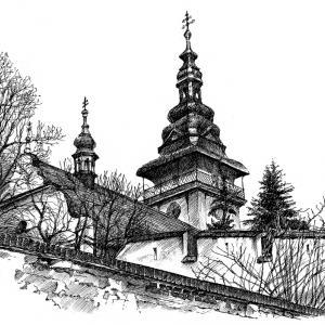 Moravské Budějovice - perokresba