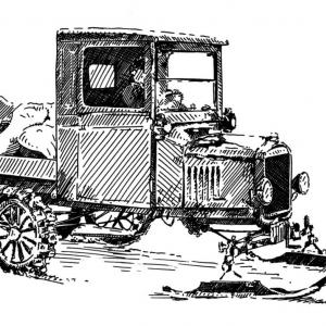 Ford T Snowmobil