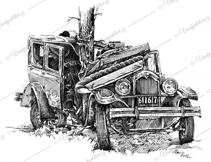 old car wrecks