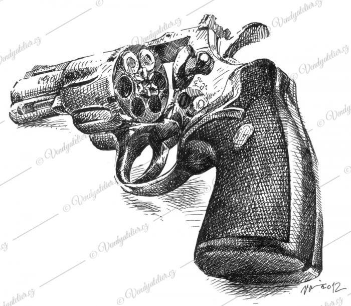 Revolver, pistole, kolt
