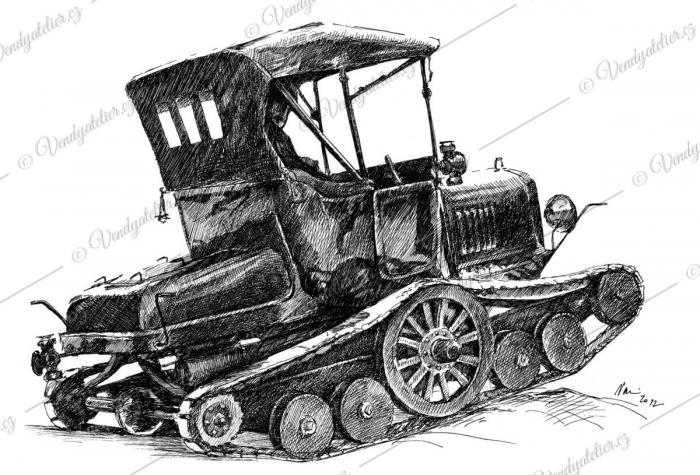 Ford Model T Skútr - Snowmobile '1922