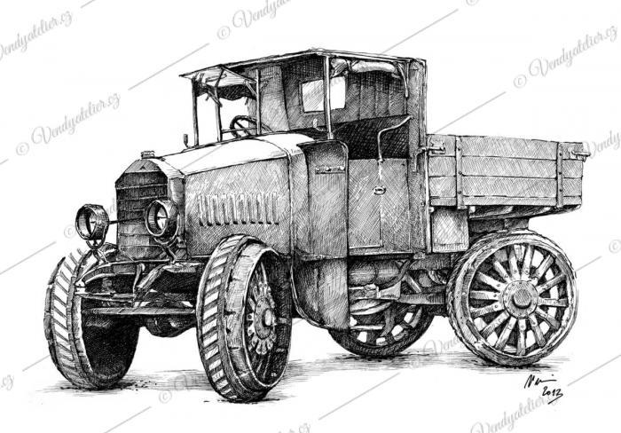 Mercedes-Benz - tahač z roku 1919