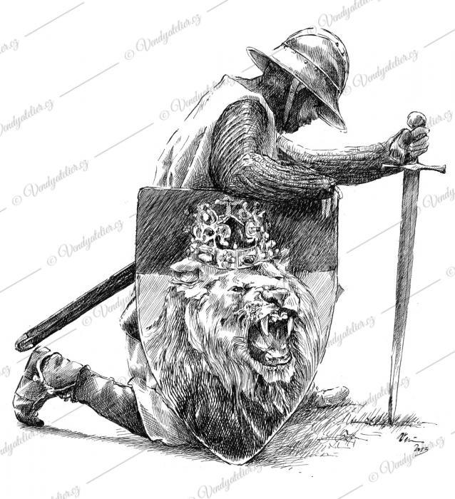 Blanický rytíř sloužící Českému lvu