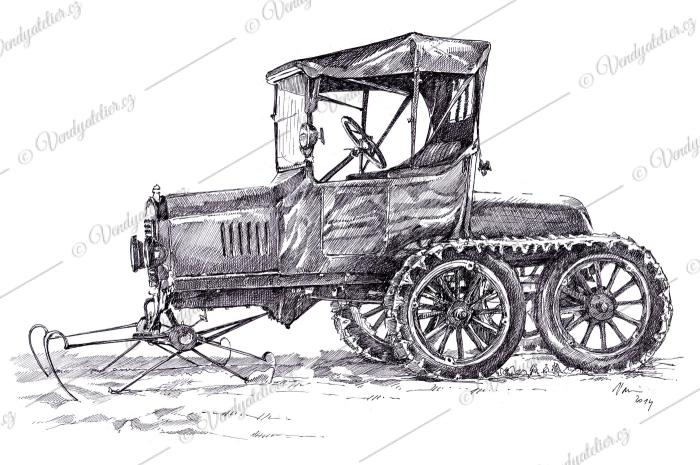 Ford T Snowmobile
