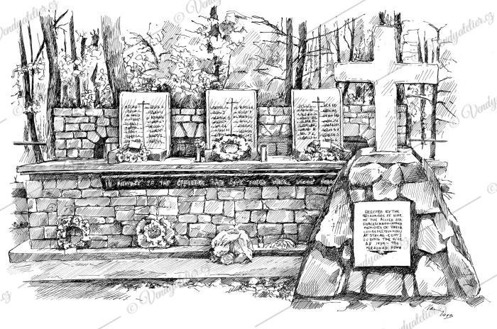 Památník pro 50 popravených zajatců z tábora Stalag Luft III