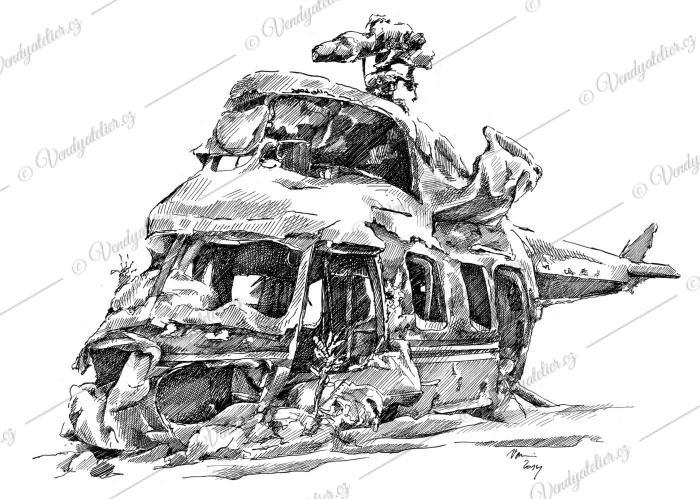 Letecký hřbitov - vrtulník
