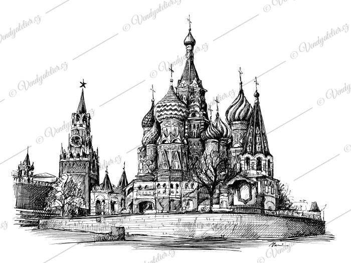 Kreml, Rudé náměstí, chrám Vasilie Blaženého