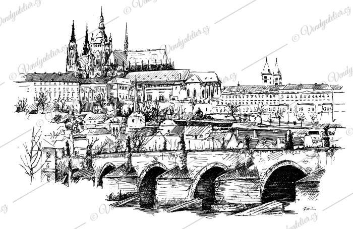 Praha - Pražský hrad, Karlův most