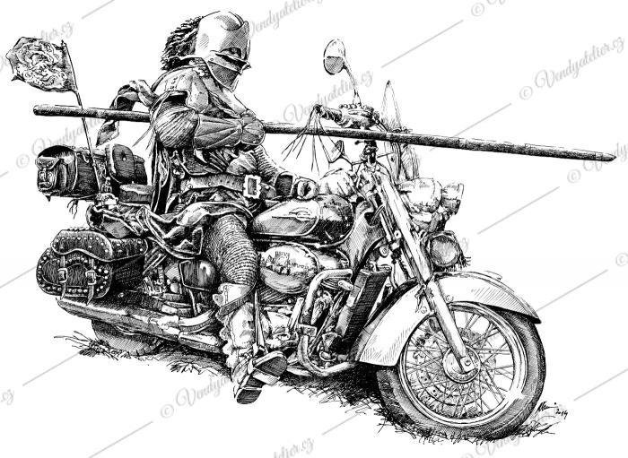 Rytíř motorkář