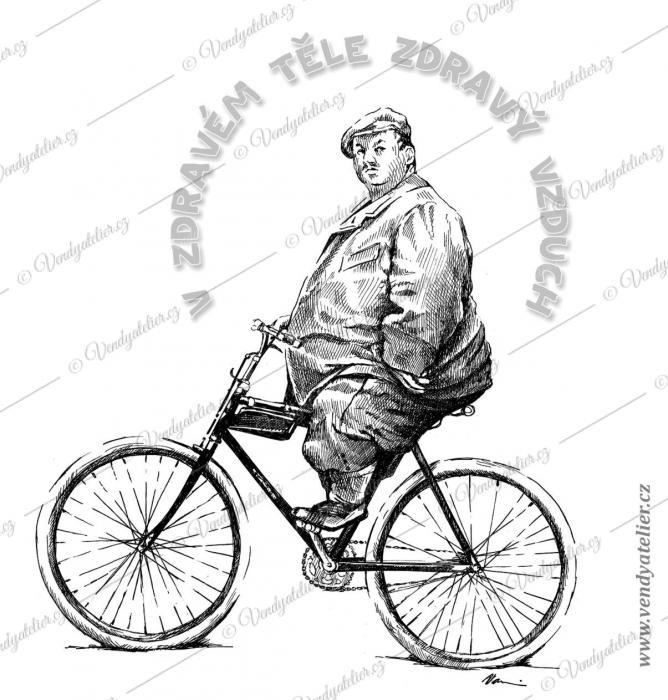 obézní cyklista