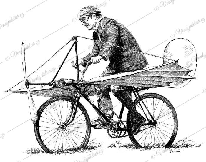 Velocipedista - aviatik