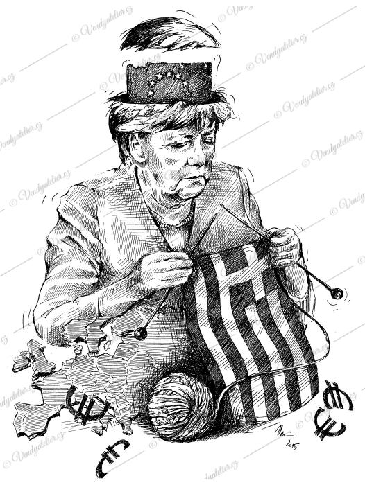 Angela Merkelová - Řecko