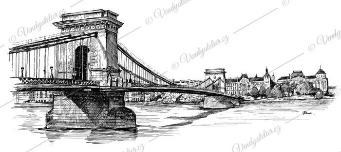 Budapešť - řetězový visutý most