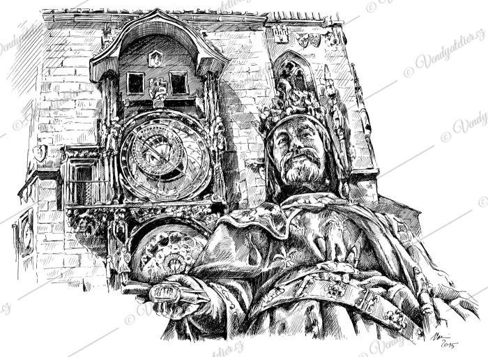 Karel IV na Staroměstském náměstí