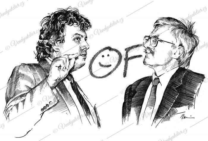 Vladimír Dlouhý a Václav Klaus - OF