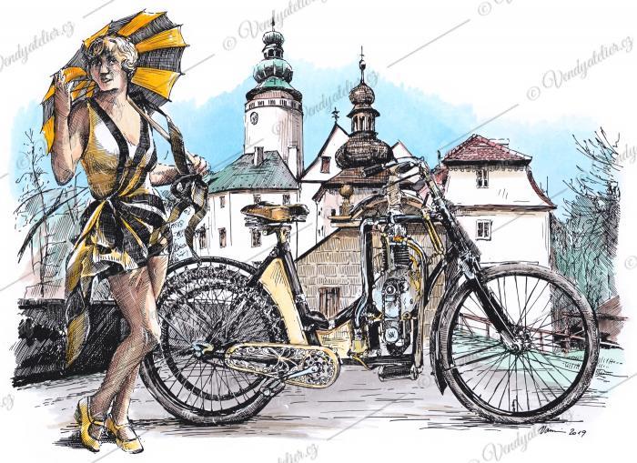 Laurin a Klement dámský motocykl typu BD
