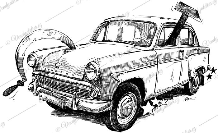 Moskvič - socialistické vozidlo