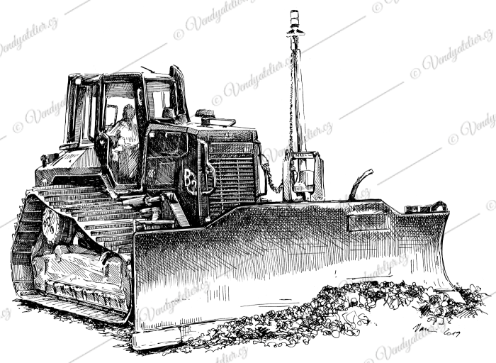 Buldozer - CAT D6N