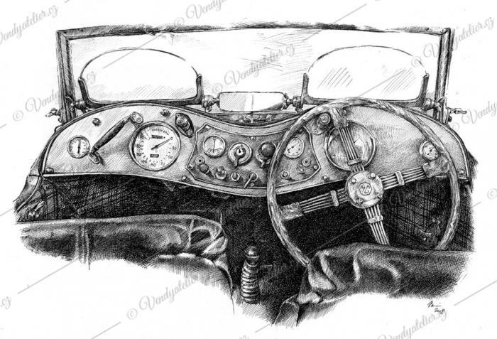 Palubní deska - autoveterán MG
