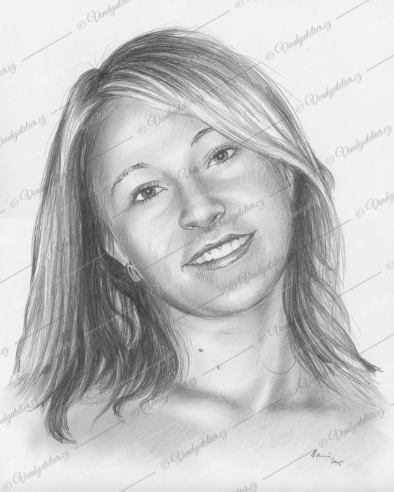 Martina - portrét tužkou