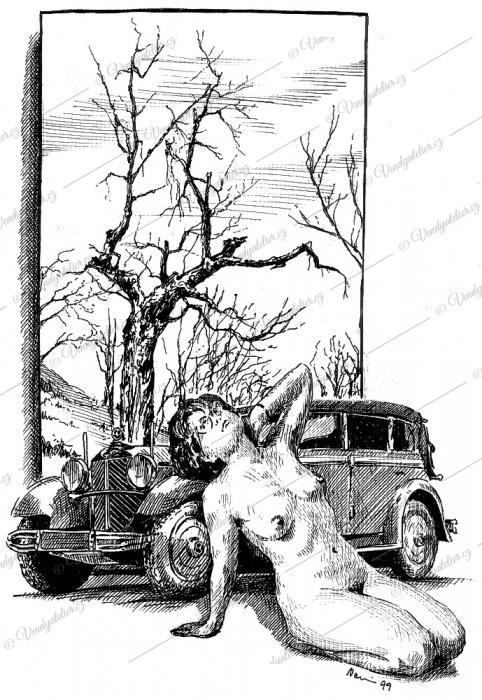 Tři veteráni - starý strom, staré auto a moje stará...