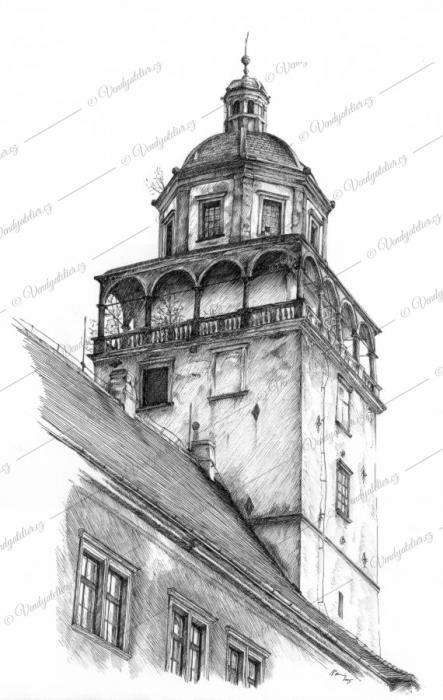 Moravský Krumlov - věž zámku
