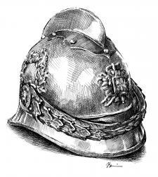 Stará hasičská helma