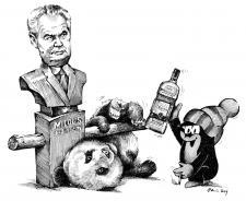 Krteček a panda hledají souznění....