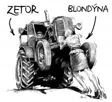 Zetor a blondýna