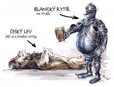 Blanický rytíř a Český lev na stráži
