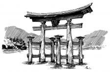 Japonsko - Svatyně Icukušima