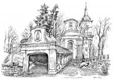 Nová Paka, klášter paulánů, schodiště od jihu