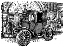 1899 Columbia Electric autokar - vůz.
