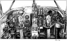 Vickers Wellington - palubní deska