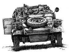Vojenské vozidlo - německá armáda