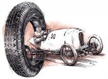 Oldtimer - historie pneumatik, hrabě Kolowrat