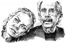 Václav Havel a Dagmar Havlová