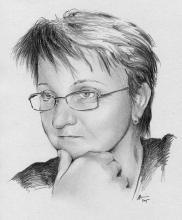Blanka - portrét tužkou