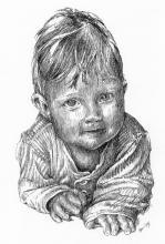 Dítě - perokresba